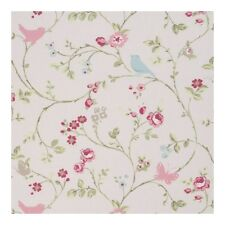 "Clarke and Clarke Bird Trail Rose Fabric 137cm/54"" wide"