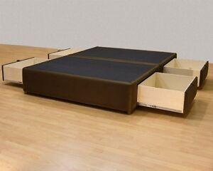 Tiffany 4-drawer California King  Platform Bed/ Storage Mattress Box