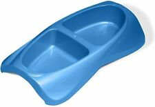 New Van Ness Blue 2 Sided Cat Dish/small dog 16 Ounce Food&Water Doiuble Dish