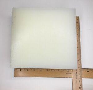 "Polypropylene Sheet, Block, Color is Natural, Size 8""x 8"" x 2-1/2"", 1 lot of 2"