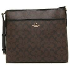 Coach F58297 Signature File Bag Messenger Crossbody/Shoulder Bag Brown/Black