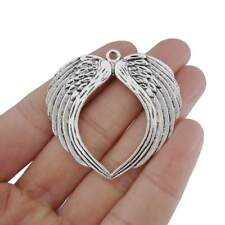 5 x Tibetan Silver Angel Wings Feathers Charms Pendants for Jewellery Making