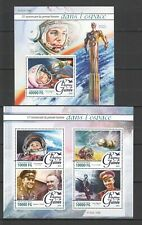 ST063 2016 GUINEA SPACE ANNIVERSARY FIRST MAN IN SPACE GAGARIN 1KB+1BL MNH