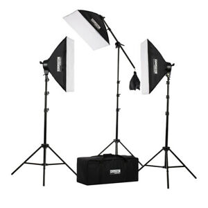 PHOPIK Softbox Lighting Kit 2X20X28 inch Professional Continuous Studio Photography Photo Studio Equipment with 2/×85W 5500K E27 Socket Bulbs for Portraits and Product Shooting