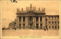 Roma Rom Italien s/w Postkarte 1913 gelaufen Basilica di S. Giovanni in Laterano