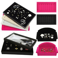Velvet Jewelry Box Earring Ring Display Case Organizer Holder Storage Box Tray