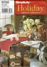 1999 UNCUT Simplicity Holiday Pattern Collection 8996 Table Runner in 3 Lengths+