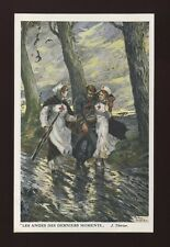 Belgium WW1 Invalid Soldiers fund Les Anges Nurses  Artist THIRIAR PPC