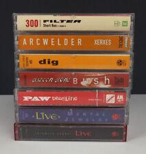 Lot 7 Hard Rock Cassette Tapes - Bush / Filter / Dig / Paw / Live / Arc Welder