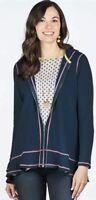Matilda Jane Be Present Hoodie Fleece Lined Womens X Large Blue NWT IN Bag