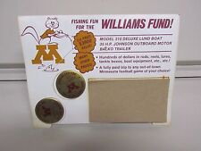 University Of Mn Gophers Fishing Fun For The '76 Williams Fund Button Display 12