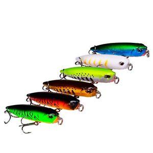 1PCS Fishing Fish Minnow Crankbait hook Plastic lure Kit baits 5.5g/6.5cm