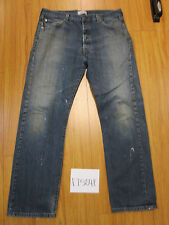used Levis 501 destroyed feathered grunge jean tag 36x32 meas 35x31 17504F