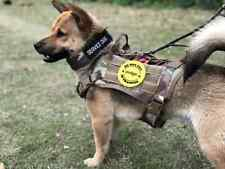 Tactical Dog Harness with Leash + Handle Military German Shepherd Training Army.