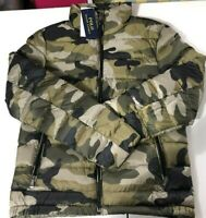 Polo Ralph Lauren PERF CAMO Quilted Down Puffer Jacket Coat New Women's SZ Small
