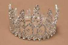 Crystal Mini Tiara Crown for Newborn - Baby Photo Prop Crystal Rhinestone 4061