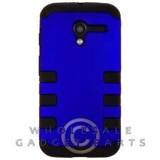 Motorola Moto X XT1055/XT1060 TUFF Hybrid Case Blue Cover Shell Protector Guard