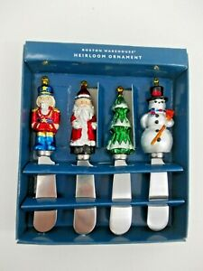 New in Box CHRISTMAS Heirloom Ornament Cheese Pate Knife Spreaders Model #15312