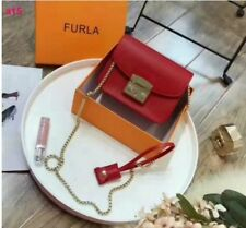 Furla Leather medium Crossbody bag in red color. New without tag