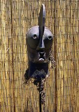 """African Songye Kifwebe Male Mask From The DRC Congo 24 """" Tall"""