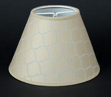 Lampenschirm beige Schuppenmuster  E-14 Aufsteckschirm