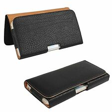 for iPhone 7 Plus - BLACK PU Leather Pouch Holder Belt Clip Holster SKin Case