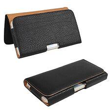 for LG V20 Phones - BLACK PU Leather Pouch Holder Belt Clip Holster SKin Case