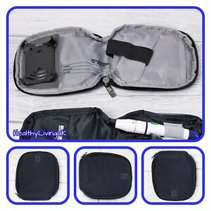 GlucoMen Areo Carry Case For Diabetic Meter  - Black - With Zip - New - RRP £25