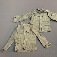 "2PCS 1/6 Scale WWII German Infantry Officer Tunic Top 12"" GI Joe Dragon Figures"