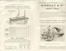 60 CREIL SUPPLEMENT AU CATALOGUE CHARRUES  HERSES RIGAULT