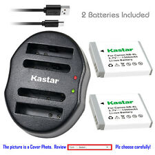 Kastar Battery Dual Charger for Canon NB-6L NB-6LH CB-2LY & Canon PowerShot D30