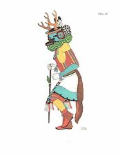 VIRGINIA ROEDIGER Pueblo Tribes Ceremonial Book Print DEER DANCER, HOPI