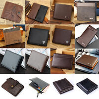 Fashion Mens Leather Money Clip Slim Wallet ID Credit Card Holder Case Purse New
