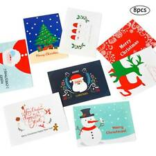 8pcs Christmas Card Holiday Mini Greeting Card Santa Claus Suit Christmas Cards3