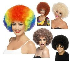 Smiffys 70s Funky Blonde Afro Parrucca (c2m)