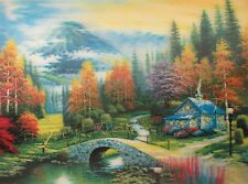"3D Lenticular Picture 3D cottage scene 2a1008 15 1/2""x 11 1/2 213 #213"