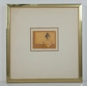 """Dale Rayburn """"The Preacher's Wife"""" Etching Signed Limited Edition 55/90"""