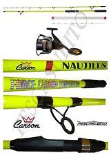 kit canna nautilus 2.70m max 250g + mulinello pesca bolentino dentice carbonio