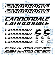 Cannondale Die-Cut Decal Stickers Bicycle Set Autocollant Aufkleber Adesivi /672