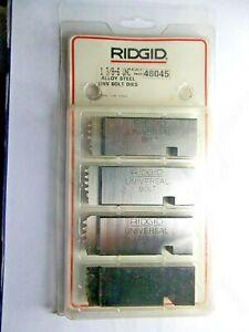 "RIDGID 48045 1-3/8""- 6 UNC BOLT THREADING DIES RH ALLOY STEEL - UNIVERSAL HEADS"
