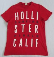 Hollister Men's Short Sleeve Crew Neck Bright Red Graphic T Shirt - Small