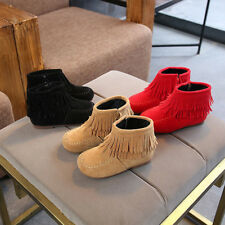Kids Baby Infant Girls Boys Winter Fringe Tassel Martin Boots Snow Boots Shoes