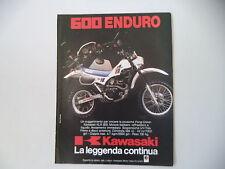 advertising Pubblicità 1984 MOTO KAWASAKI KLR 600 ENDURO