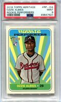 2018 Topps Heritage Rookie Performers OA Ozzie Albies Rookie PSA 9 MINT