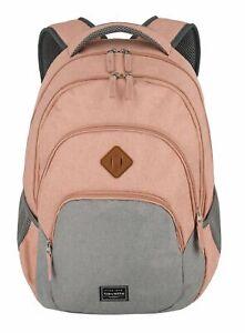travelite Basic Melange Backpack Rucksack Laptoptasche Tasche Rose / Grey Rosa