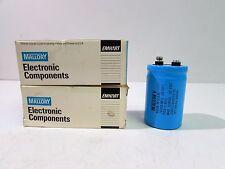 MALLORY CGS123U025V3C ELECTROLYTIC CAPACITOR 12,000 MFD 12000 UF 25WVDC (X2)*NIB