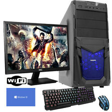 ULTRA FAST QUADCORE Desktop Gaming PC Computer Bundle 3.6GHz 8GB 1TB Windows10