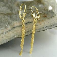 333 Gelbgold Ohrringe Ohrhänger Brisur mit Singapur-Ketten, 8Kt GOLD