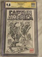 Captain America #1 CGC 9.8 SS Allen Bellman full figure! R.I.P! Sketch cover