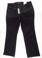 Talbots Womens Corduroy Pants Signature Boot Black Jeans  Size 12WP